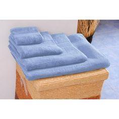 Prosop de baie albastru-1  450 gr. bordura Dobby