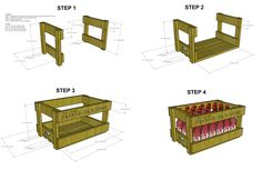 Beer crate design and blueprints for cinstruction.