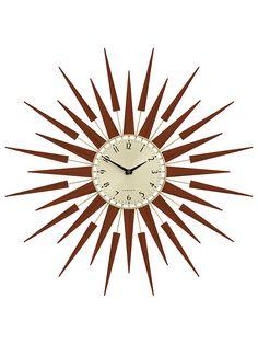 Newgate Pluto Wall Clock, Dia.65cm, Brown at John Lewis & Partners