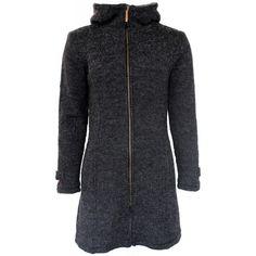FUZA WOOL Classic Coat WP | Klassisk grå frakke med windbreaker og hætte