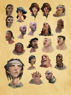 The Art of Sea of Thieves - Character designs & concept art