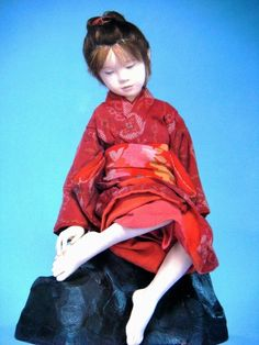 """「河口湖ミューズ館」5.Ataeyuuki """"Kawaguchiko Muse Museum"""" Oriental, China, Doll Japan, Asian Doll, Old Dolls, Doll Maker, Japanese Artists, Collector Dolls, Fabric Dolls"""