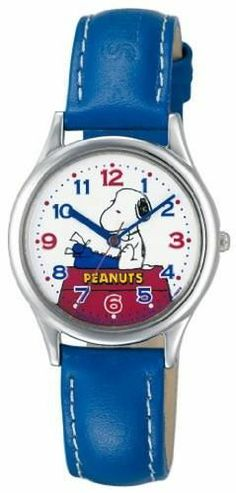 Snoopy Typing Red, White and Blue Watch