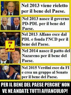 il popolo del blog,: per il pene del paese, pardon il bene loro e le pe... Vox Populi, Italian Style, Satire, Sentences, Chuck Norris, Funny Pictures, Memes, Photos, Humor