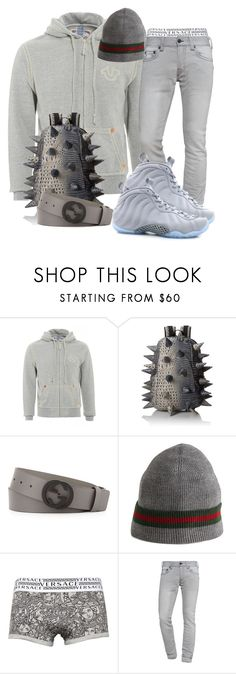 """#26"" by ebkkeef ❤ liked on Polyvore featuring MadPax, Gucci, Versace, True Religion and NIKE"