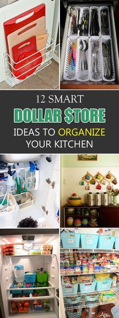 12 Smart Dollar Store Ideas To Organize Your Kitchen