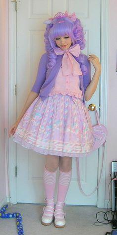 lolita ● fashion ● Japan ● pink ● purple ● wig ● sugary carnival ● pony ● carousel ●