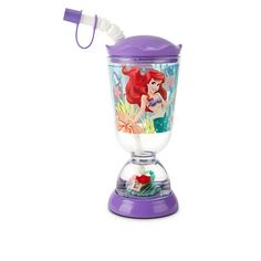 Disney Ariel Snowglobe Tumbler with Straw | Disney StoreAriel Snowglobe Tumbler with Straw - The Little Mermaid's acrylic sipper cup has a undersea snowglobe built right into the base for a sip of sparkling enchantment at every meal!