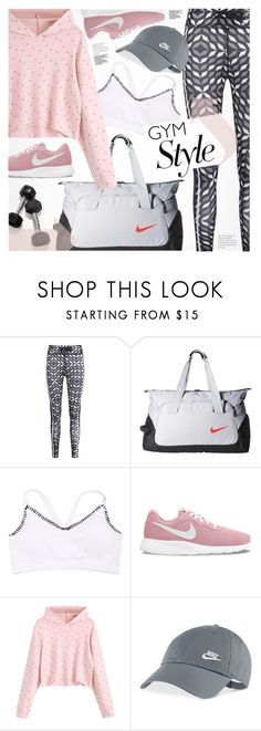 """""""Sweat Sesh: Gym Style"""" by pokadoll ❤ liked on Polyvore featuring NIKE"""