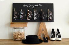 DIY Chalkboard Sunglasses Organizer