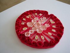 Quilled Paper Tomato Slice Home Decor by ThePaperyCraftery on Etsy, $16.00