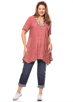 Plus Size Tops | Plus Size Evening Tops - CATERINA TUNIC - TS14