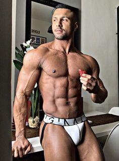the swole strip Athletic Supporter, Athletic Men, Men's Undies, Men's Underwear, Hot Hunks, Shirtless Men, Male Physique, Hairy Men, Muscle Men