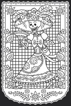 Día de los muertos female with hat