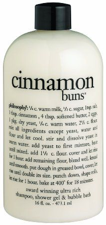 Amazon.com: Philosophy Cinnamon Buns Shampoo/Shower Gel/Bubble Bath, 16 Ounces: Beauty Holy Moly, this sounds yummy