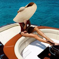 Shop for stylish Designer Swimwear for Women at REVOLVE CLOTHING. Yacht Outfit, Weekender, Elegant Summer Outfits, Fashion Looks, Winter Hats For Women, Wide-brim Hat, Girl With Hat, Summer Hats, Brigitte Bardot