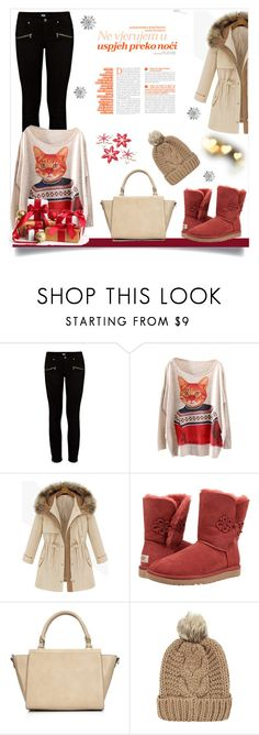 """Untitled #1"" by mini-kitty ❤ liked on Polyvore featuring Paige Denim, UGG Australia, Wallis and Chicnova Fashion"