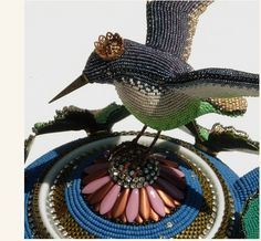 Jan Huling Transforms Ordinary Objects with Ornate Beadwork Bead Embroidery Jewelry, Beaded Embroidery, Seed Bead Art, African Textiles, Catholic Gifts, Semi Precious Beads, Beaded Animals, Beaded Ornaments, Beads And Wire