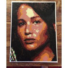 Katniss Everdeen portrait - The Hunger Games hama perler beads by aslaugsvava