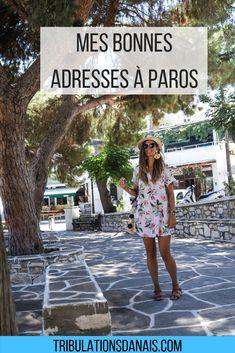 bonnes adresses à Paros cyclades Grèce taverne où manger que visiter glace
