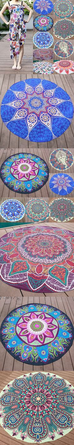 2016 Indian Mandala Retro Floral Printed Tapestry Wall Hanging Boho Beach Throw Towel Yoga Mat Home Rug Decor 145cm New $15.2