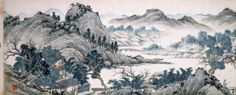 Attributed to Shen Zhou (1427-1509), Landscape of the Peach Blossom Spring, Ming dynaasty. Handscroll,, with inscriptions and colophons. Ink and colours on paper. © The Trustees of the British Museum.