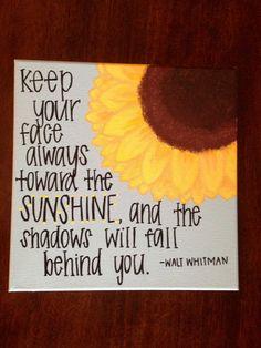 Sunflower Sunshine Quote by RoseberryCanvas on Etsy