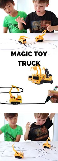Magic Inductive Toy Truck. This fun toy truck follows black marker lines you can draw for tons of imaginative and creative art play with kids.