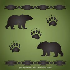 """Bear Paw Print Stencil 