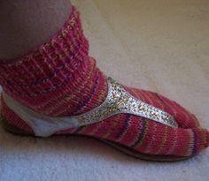 Tabi socks, flip flop socks, ANKLE HIGH, sandal socks, thong socks, one size fits most, toe socks, split toe socks, mittens for the feet by HodgepodgeCreationz on Etsy