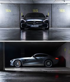 Breathtaking proportions, powerfully sculpted surfaces and flowing lines turn the new AMG into a contemporary sports car which embodies the spirit of the glorious Mercedes sports cars. The Mercedes-AMG GT S photographed by Johannes Gloeggler. #mbsocialcar [Mercedes-AMG GT S | combined fuel consumption 9.6-9.4 l/100km | combined CO2 emission 224-219 g/km |  http://mb4.me/efficiency_statement]