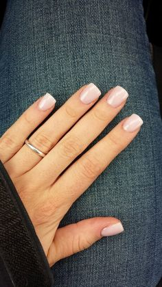 "Perfect wedding nails. Essie ""vanity fairest."" The softest pink with the most subtle hints of sparkle/shimmer. Perfect at 3 coats."