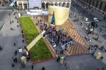 LINcroyable récolte - expose le LIN européen Paris juin 2013 (extérieur jour)