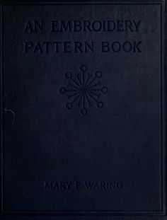 An embroidery pattern book