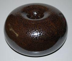 Horst Kerstan (Germany) own studio 1982. Stoneware with oilspotglaze.