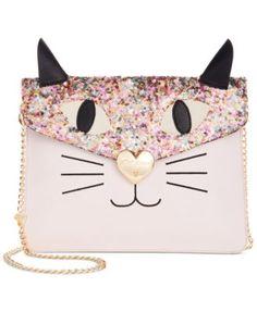 Betsey Johnson Sequin Cat Clutch | macys.com