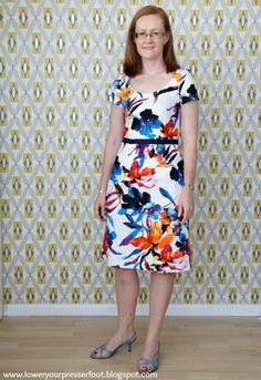 Burda 3/2013 #110 floral dress www.loweryourpresserfoot.blogspot.com