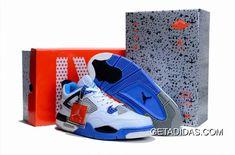 51ee141249c4c2 Air Jordan 4 Blue White Black TopDeals