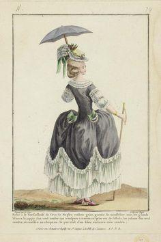 """Robe à la Versailloise de Gros de Naples …"""" 1778 Conçu par Pierre-Thomas Leclerc, français, vers 1740-après 1799"""