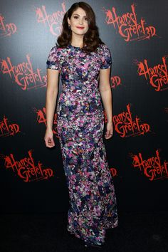 Gemma Arterton wore an Erdem floral dress to attend the Sydney premiere of Hansel & Gretel: Witch Hunters.