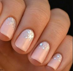 Sparkly tan nails