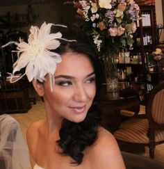 Bridal hair and make-up done by Helen Chiasson
