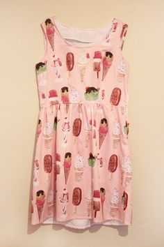 Want this sooo bad! Handmade dress  with original textiles by Caitlin Shearer - custom size. $150.00, via Etsy.