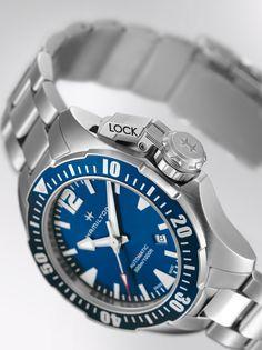 Khaki Navy Frogman   deep blue dial watch   H77705145   Hamilton watch