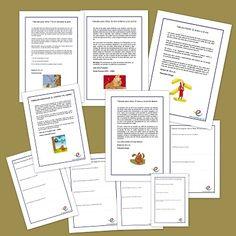 Actividades de comprensión lectora. Fábulas y leyendas. Textos para facilitar la comprensión lectoras en niños y niñas de primaria