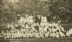 Children, Staff, and Sisters: Sister Marie Cullinnan (on left) and Sister Francis Kreis (on right), 1920, Utica, NY