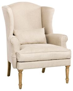 Loire Wingback Chair Traditional Armchairs And Accent Chairs