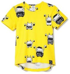Kukukid Yellow Monsters T-Shirt - available for international delivery from online kids store www.alittlebitofcheek.com.au
