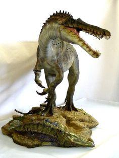 Suchomimus by ~Baryonyx-walkeri on deviantART Dinosaur Fossils, Dinosaur Art, Dinosaur Toys, Dinosaur Crafts, Prehistoric Wildlife, Prehistoric Creatures, Prehistoric Dinosaurs, Spinosaurus, Jurassic Park World