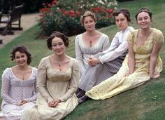 The Bennet sisters-Lydia, Elizabeth, Jane, Mary and Kitty